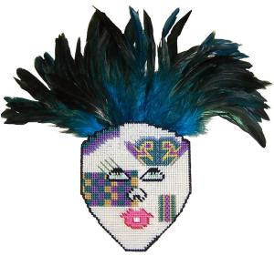 Plastic Canvas Mardi-Gras Mask
